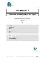 Dossier de demande Aide TPE covid Berry Loire Vauvise