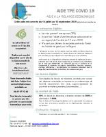 Présentation Aide TPE COVID 19 Berry Loire Vauvise