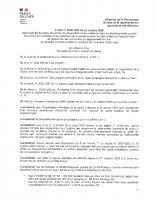 AP 2020-1266 du 22 10 20 interdisant buvettes, points restauration et vestiaires dans les établissments sportifs couverts et de plein air dans les communes du Cher signé