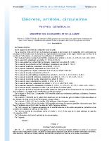 Décret 2020-1310 du 29 10 2020 prescivant mesures générales nécessaires pour faire face au Covid-19 – Etat d'urgence sanitaire